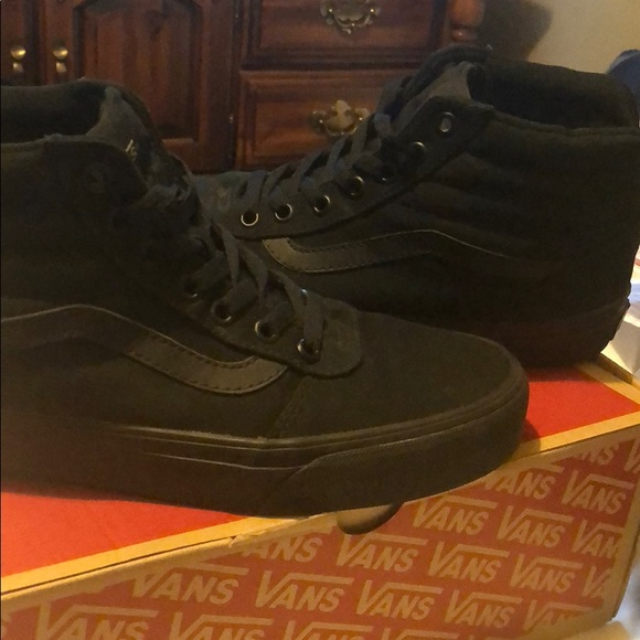 Vans Shoes | All Black High Top Vans